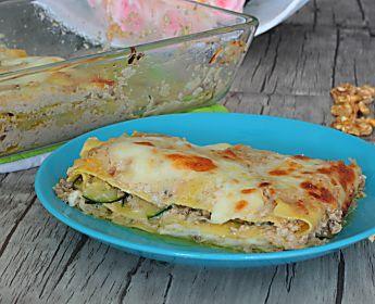 Lasagne alle noci e zucchine ricetta veloce
