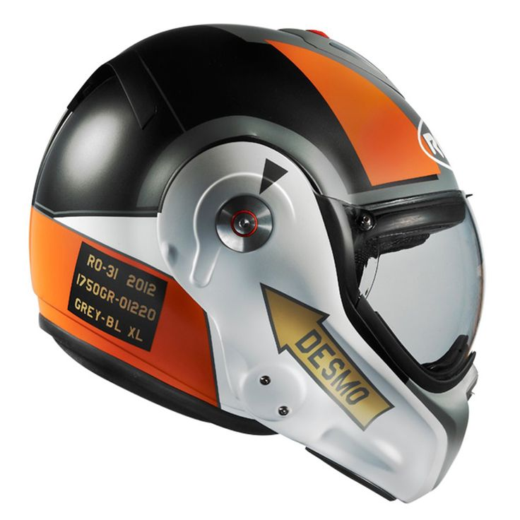 Pilot inspired motorcycle helmet design.