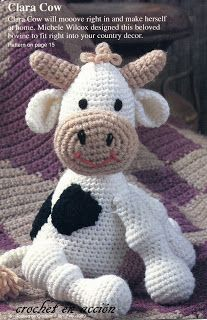 Amigurumi Cow - FREE Crochet Pattern and Tutorial.... not that you'll ever have need to make a cow, but you said pin free patterns ;) @Wendy Felts Zenz