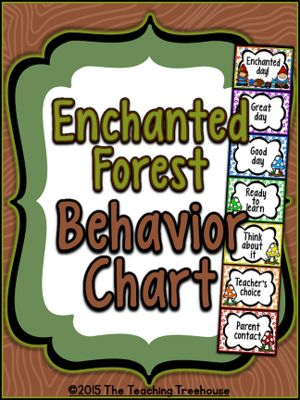 Enchanted Forest Behavior Clip Chart ~ Full & Mini Sizes from The Teaching Treehouse on TeachersNotebook.com -  (11 pages)  - This adorable behavior chart will go great with any enchanted forest classroom décor! A great way to manage behavior in the classroom!