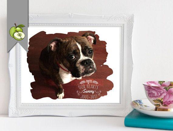 Pet memorial, dog memorial, pet loss, pet loss gift, in loving memory, memorial gift, pet loss memorial, personalised dog, DIGITAL File
