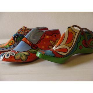 Decoracion con hormas de zapato.