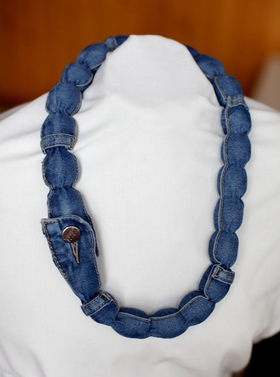 Jeans necklace - no tutorial