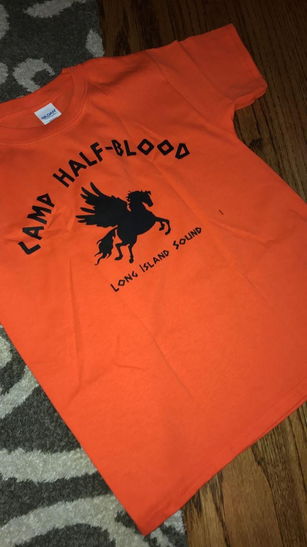 omg I got a camp half blood shirt for x-mas