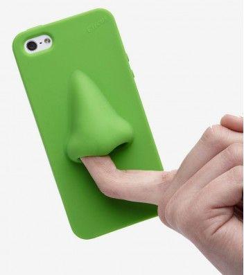 Pour tous les fans des coques iPhone originales ? optez pour la coque nez afin de pouvoir enfin mettre ces doigts dans le nez… de votre smartphone!  Mis à part son côté fun, cette coque en silicone protègera l'arrière et les contours de votre téléphone.