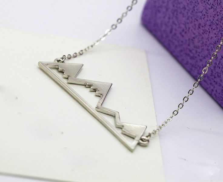 The PERFECT necklace for someone that LOVES the Mountains! Now, you can show your love for the Mountains no matter where you are!