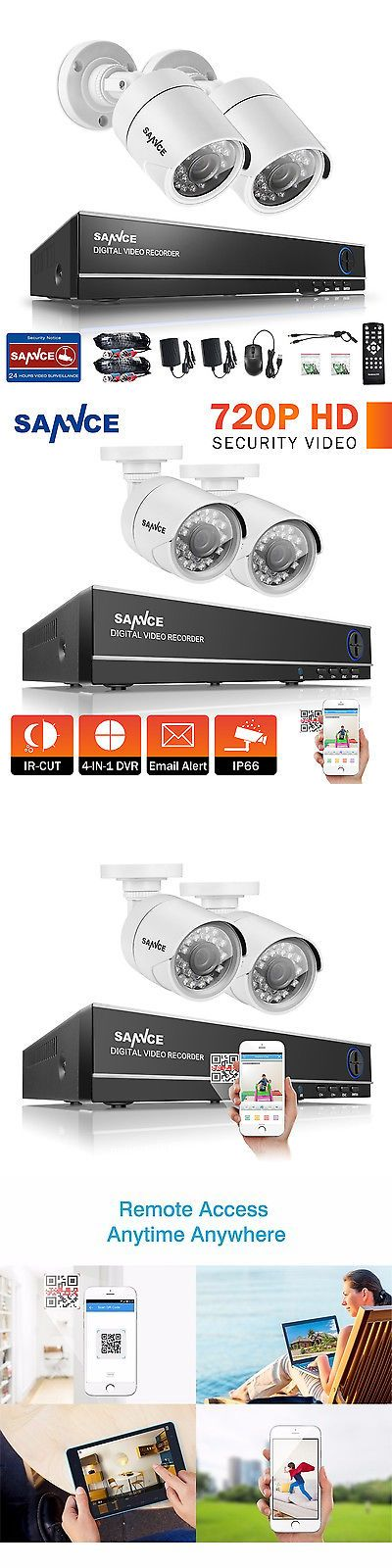 Security Cameras: Sannce 4Ch 1080N 4In1 Dvr 720P Ir Night Vision Tvi Home Security Camera System -> BUY IT NOW ONLY: $59.99 on eBay!