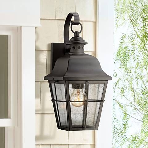 1024 best outdoor lighting images on pinterest applique outdoor quoizel millhouse 15 12 high black outdoor wall light style 5f664 mozeypictures Image collections