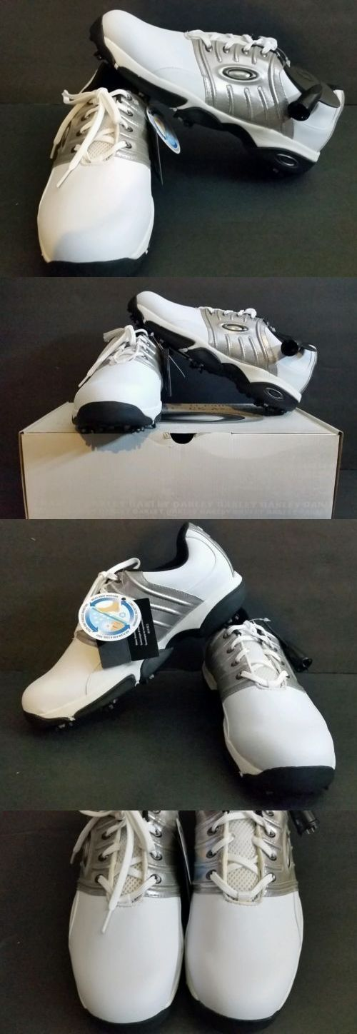 Other Mens Golf Clothing 181141: Oakley Mens White/Silver Servodrive Wide Golf Shoes New In Box Size 11 BUY IT NOW ONLY: $79.99