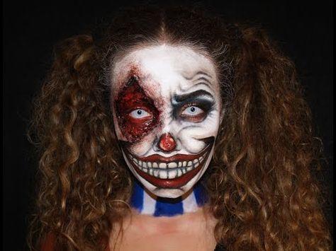 Resultado de imagen para maquillaje de payaso diabolico