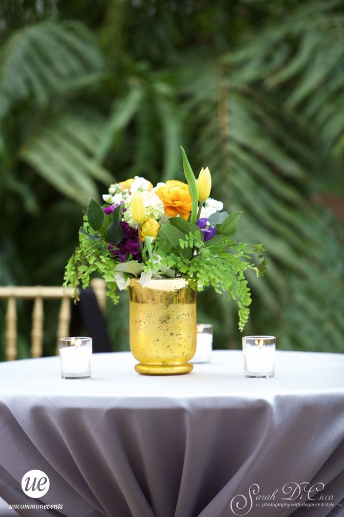 Outdoor Cocktail Table Decor | Philadelphia Wedding Planner | Uncommon Events