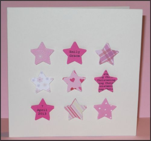 Handmade personalised Christening card for Girl or Boy - Naming Day/Baptism