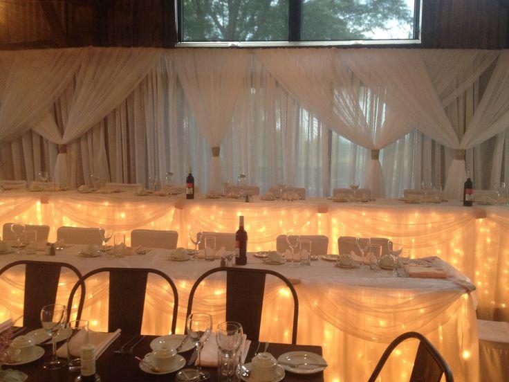 Elegant Light up Head Table- The Barn