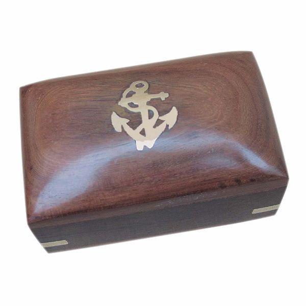 Maritime Holzbox 10x6x5,5cm