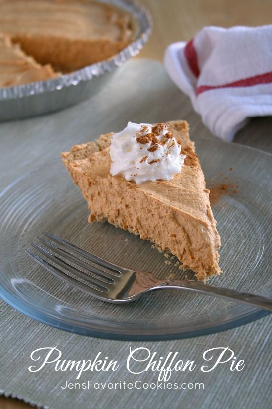 5 MINUTE Pumpkin Chiffon Pie from Jen's Favorite Cookies