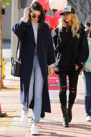 elizabethswardrobe: Kendall Jenner and Hailey Baldwin in LA (-)