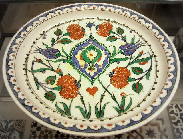 Iznik pottery plate