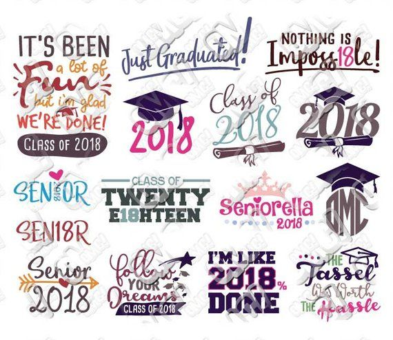 Get Svg, Dxf, Eps & Png Cutting Files 2018 Graduate Bundle 1 Crafter Files