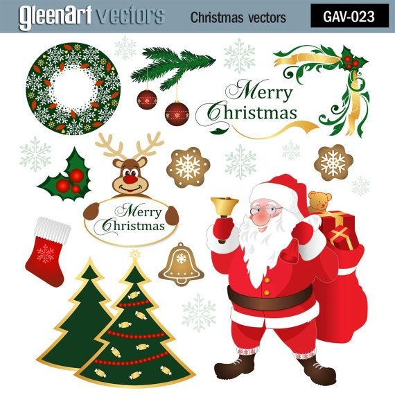 #Christmas #Santa Claus clipart #vector graphics