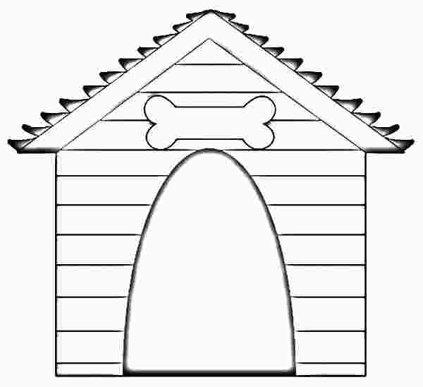 Dog House Coloring Page House Colouring Pages