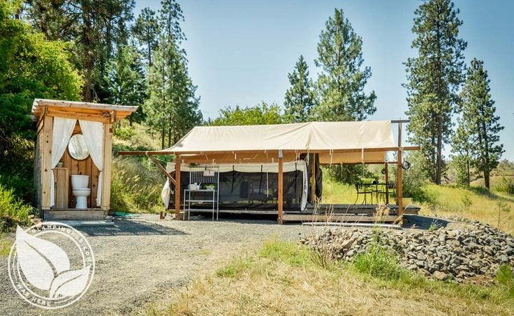 477 best tent tent platform images on pinterest for Permanent tent cabins