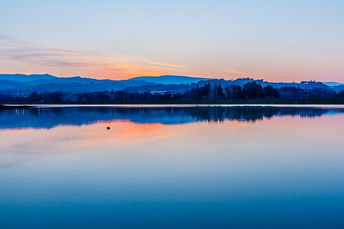 Blue hour on the lake