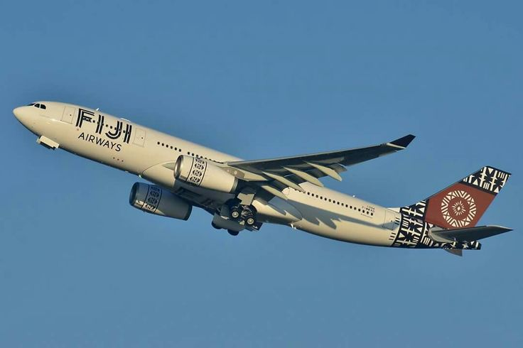 Fiji Airways Airbus A330-243 departing on a pre-delivery test flight