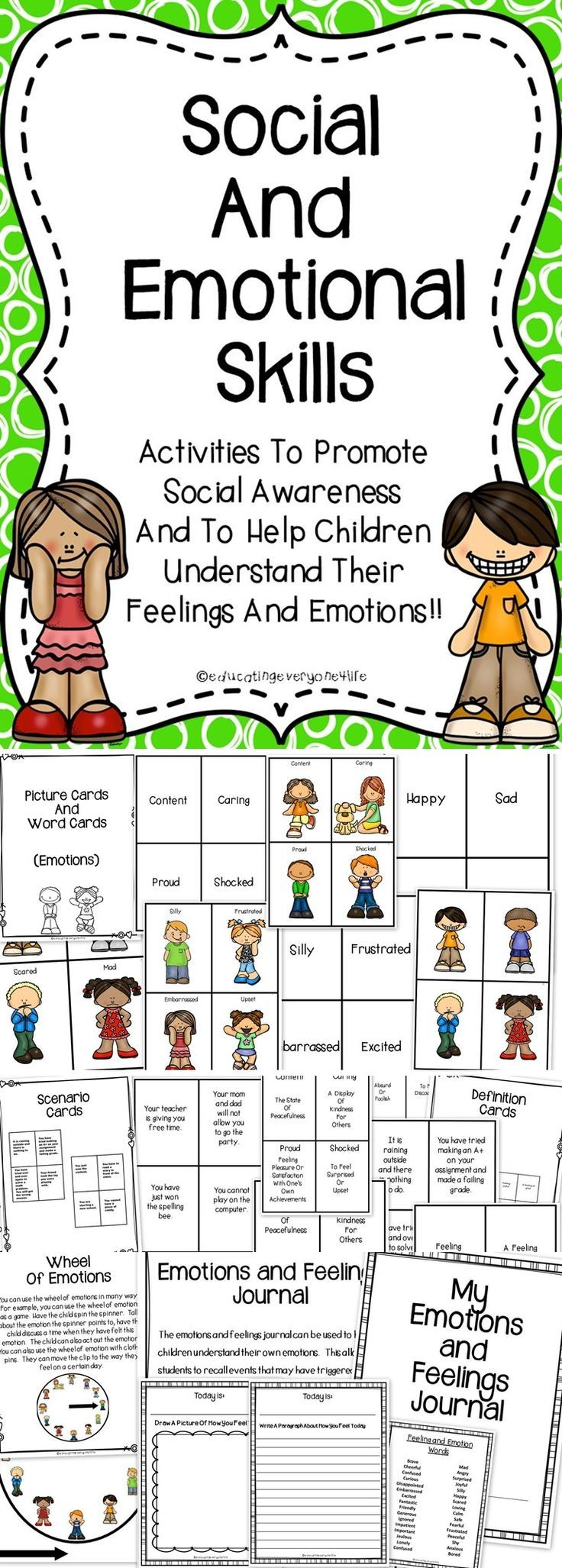 Social Skills - A great resource to help children understand their feelings and emotions.