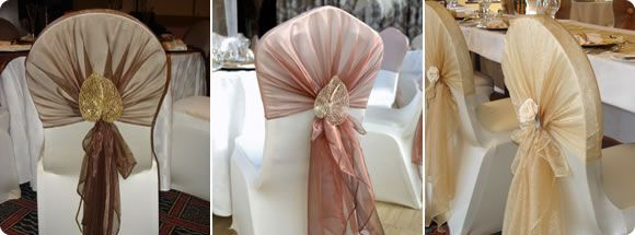 Lovely fresh idea on how to do a tie back for a wedding or a functions