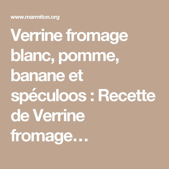 Gateau fromage blanc pomme banane