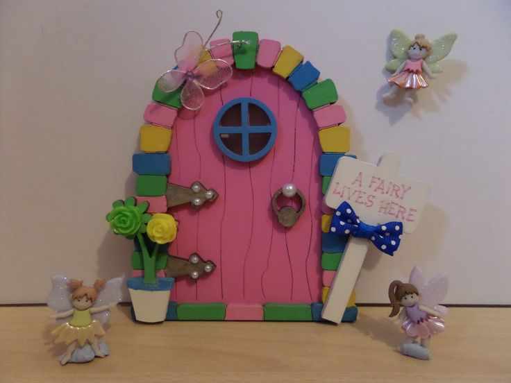 Another Beautiful Fairy Door Hand Painted Wooden Door Perfect present for any little girl to add magic to your room Available to purchase from https://www.facebook.com/elegantfancies