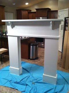 Fidlers Under One Roof: DIY Fireplace Mantel