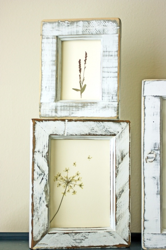 Since it will be an indoor winter garden party look for pressed flower art at thrift shops and estate sales.