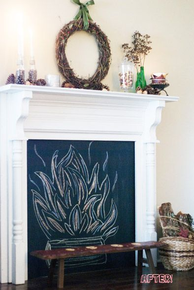 Yes, please:  fireplace-chalkboard