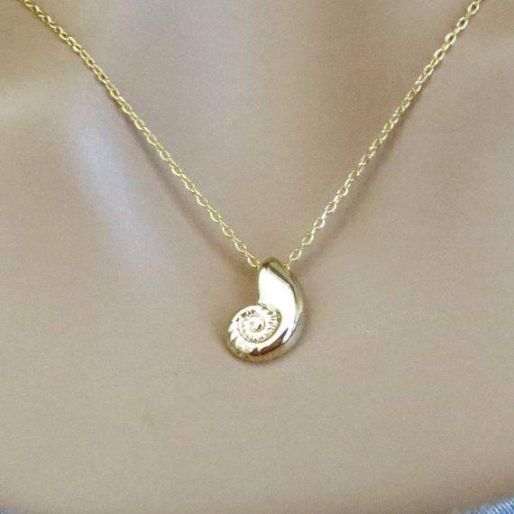 Gold Ariel Voice Necklace Mermaid Necklace by mermaidjewelryshop