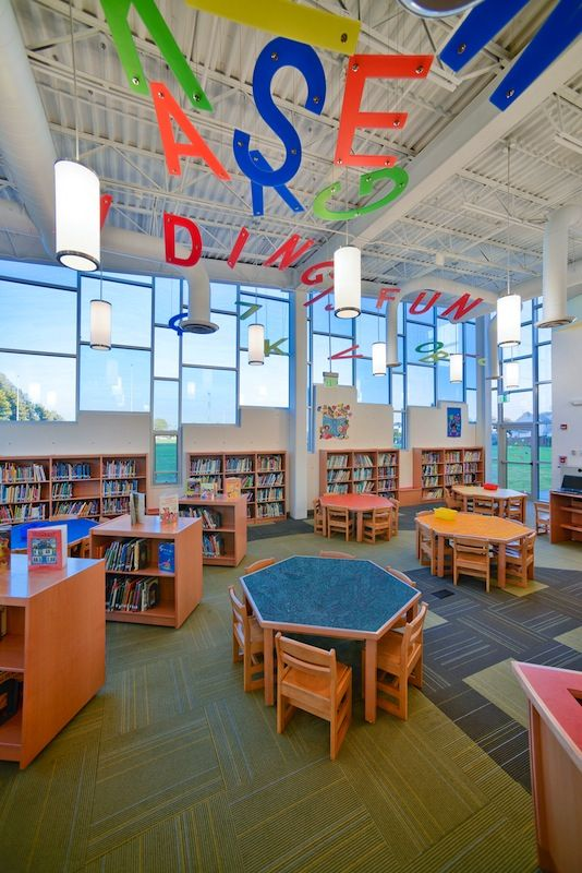 Our Interior Design At Hampton Street Elementary School Library