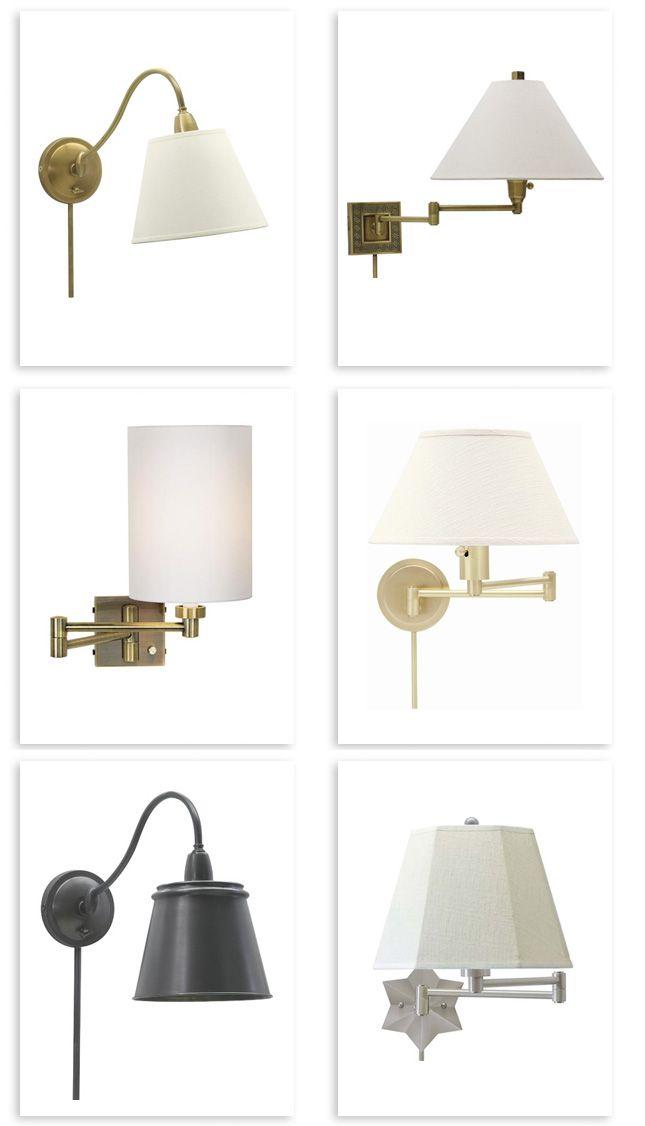 46 99 Swing Arm 1light Plugin Bronze Wall Lamp Overstock