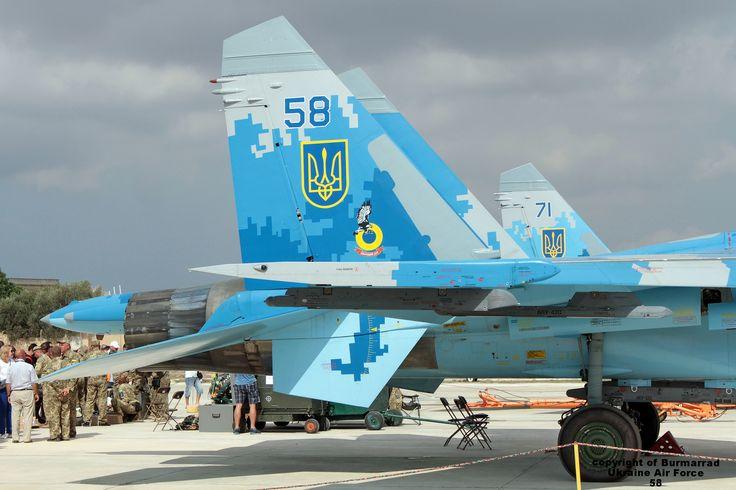 https://flic.kr/p/My91WY | 58 LMML 24-09-2016 | Airline: Ukraine - Air Force Aircraft: Sukhoi Su-27P Flanker Registration: 58     CN: 36911035612