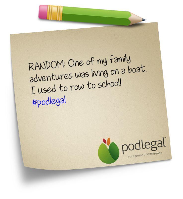 A random fact about Pod Legal Business Director, Karan White #podlegal #boatie #adventurer #random