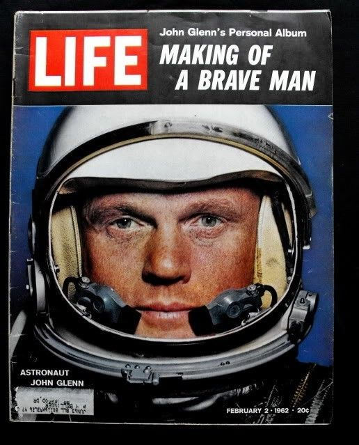 1962 February 2  LIFE Magazine Astronaut John Glenn $18 fr Ron Gilbert on @Etsy