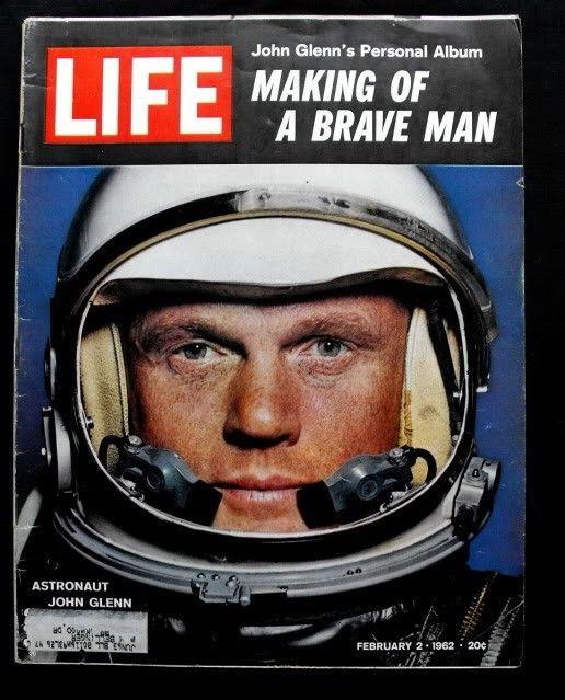 1962 February 2  LIFE Magazine Astronaut John Glenn $18 fr Ron Gilbert on @Etsy