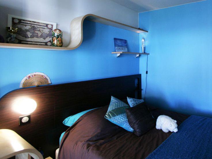 Chambre d'ado bleue
