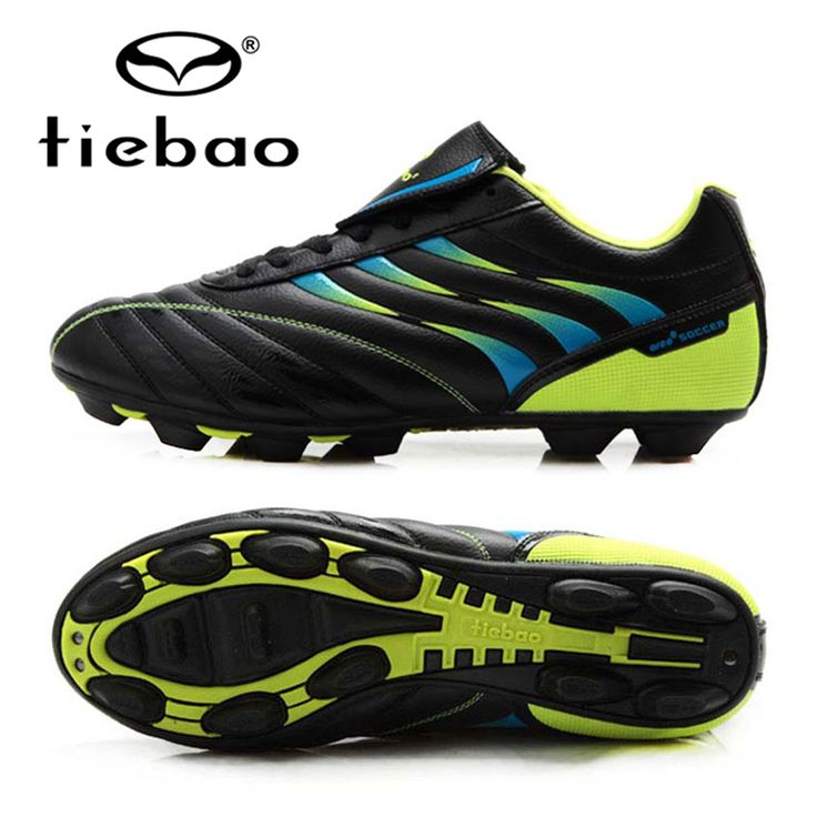 TIEBAO Professional Soccer Cleats Football Shoes AG Soles Boys Soccer Shoes Athletic Sneakers Outdoor Lawn Chuteira Futebol