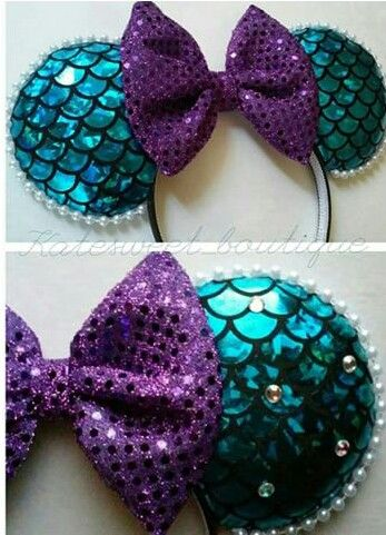 These Little Mermaid inspired Mickey Mouse Ears are light and easily packable. Have fun with ears on your cruise! One for each day???
