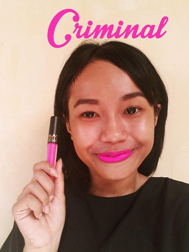 MUA Luxe Velvet Lip Lacquer - Criminal   Kindly Checkout my blog   http://letstalkaboutgirlsthing.blogspot.com/