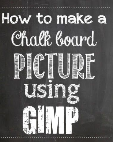 How to make your own super cute chalk board picture printable (full instructions and tutorial) - I love My Kids Blog