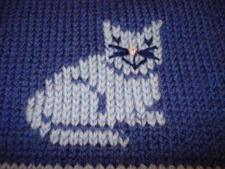 cat design - knit in or duplicate stitch