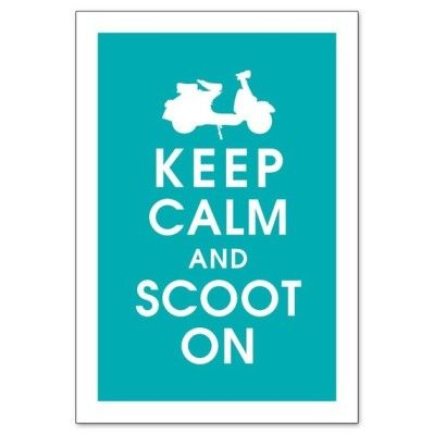 … scoot on scooter