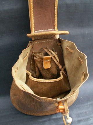 Bolsa do cinto do século XVII – pensando que isso daria uma ótima mala de kit de fogo com …   – Mittelalter – Zubehör