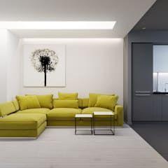 Salas de estar minimalistas por Оксана Мухина